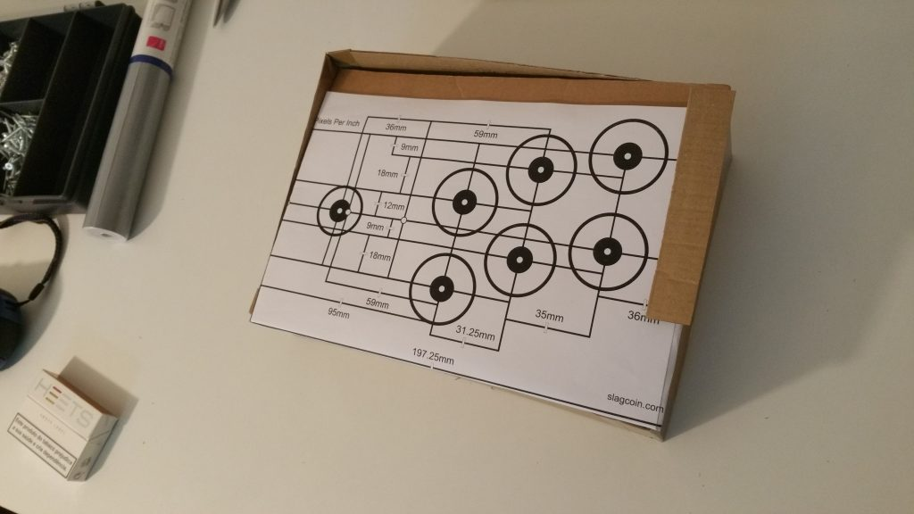 Cardboard Parts Assembled with Slagcoin's Japanese Layout